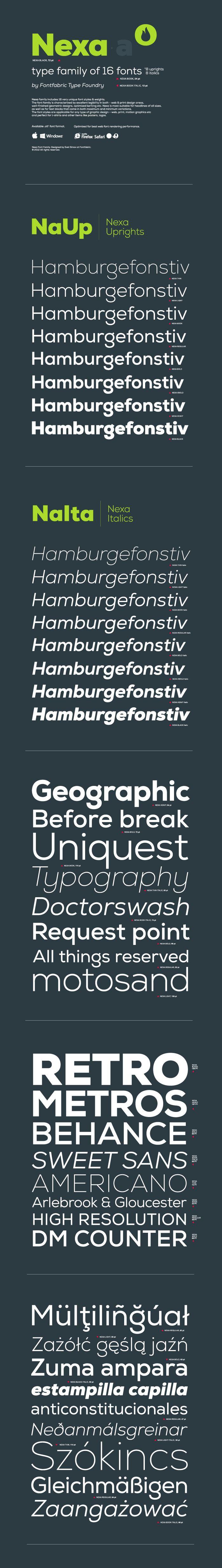 Nexa font - Fontfabric