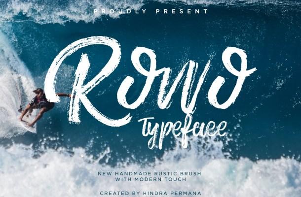 ROWO Brush Font Free