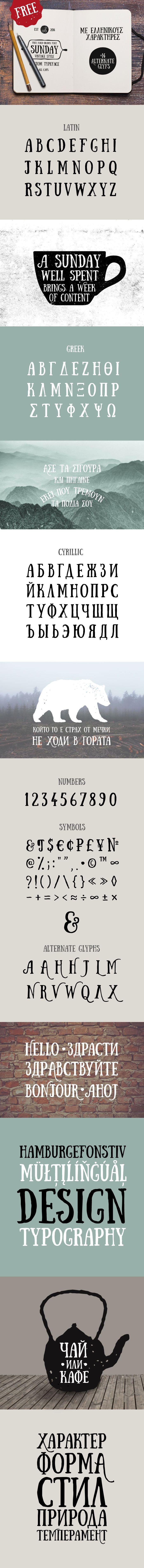Sunday font - Fontfabric