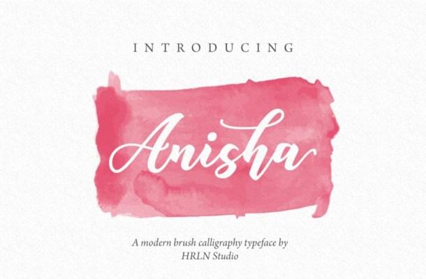 ANISHA Script Font Free
