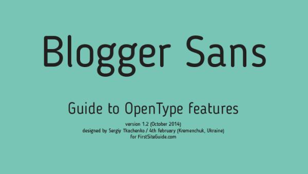 Blogger Sans Font Family