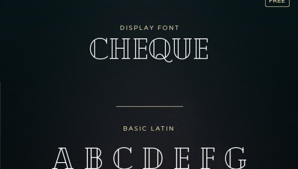 Cheque Font Free