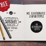 Sunday Hand Drawn Font