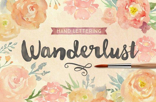 Wanderlust Letters Font