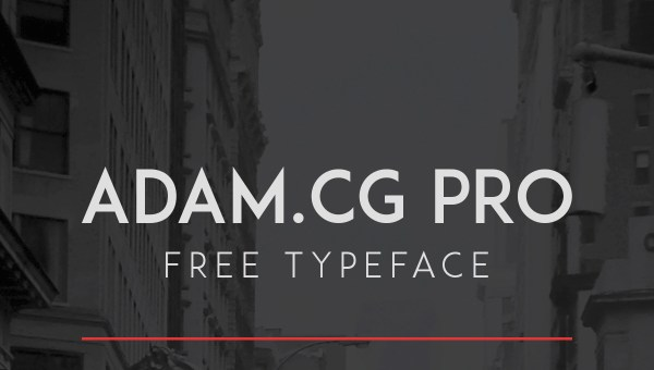 ADAM.CG PRO Font Free