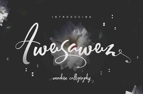 Awesawez Script Font Free
