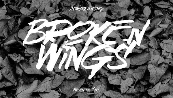 Broken Wings Font Free