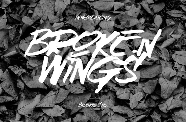 Broken Wings Font Free