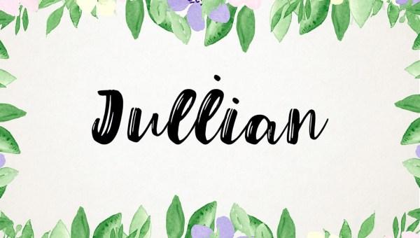 Julian Script Typeface