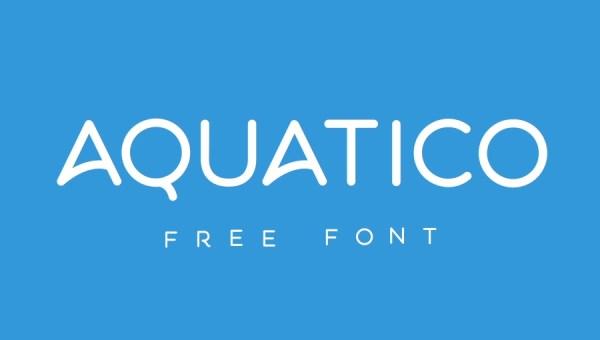 Aquatico Font Free
