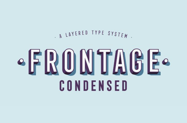 Frontage Condensed Font