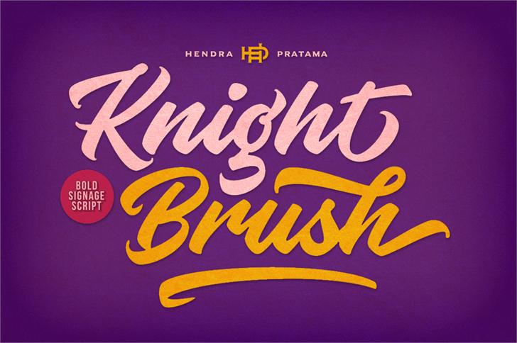 knight-brush-font