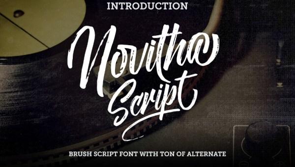 Novitha Script Font Free