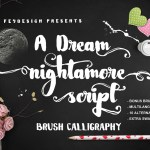 Nightamore Brush Font Free