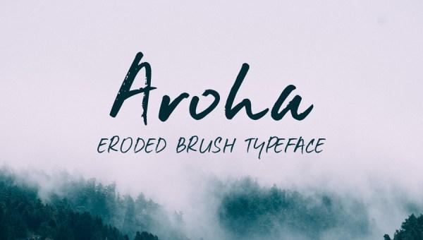 Aroha Brush Font Free