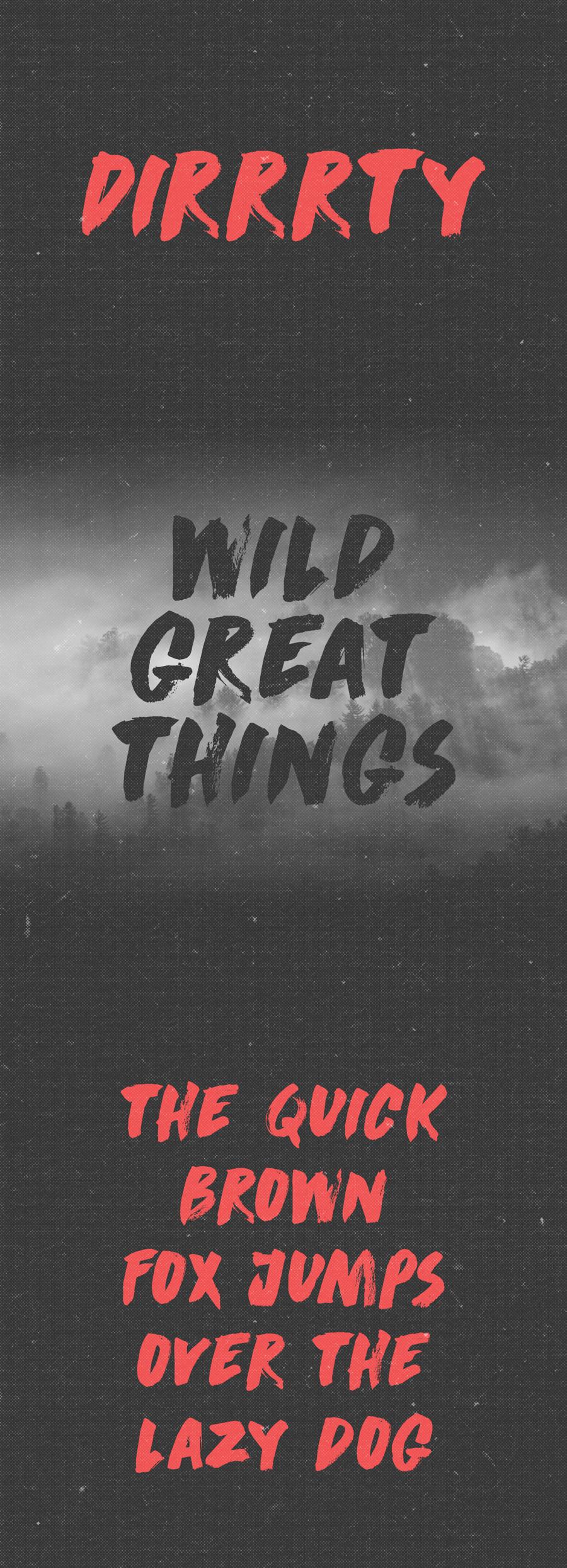 01_dirrrty-free-font