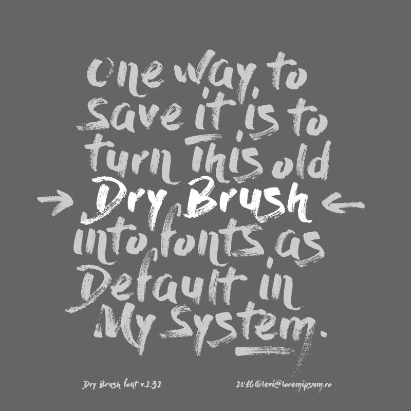 02_dry-brush-free-font
