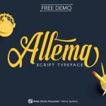 Allema Script Font Free