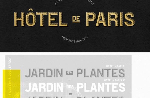 Hotel De Paris Font Free