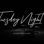 Tuesday Night Font Free