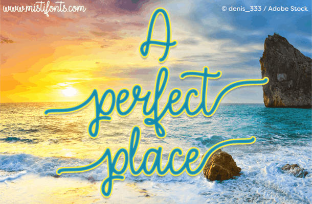 A Perfect Place Font Free