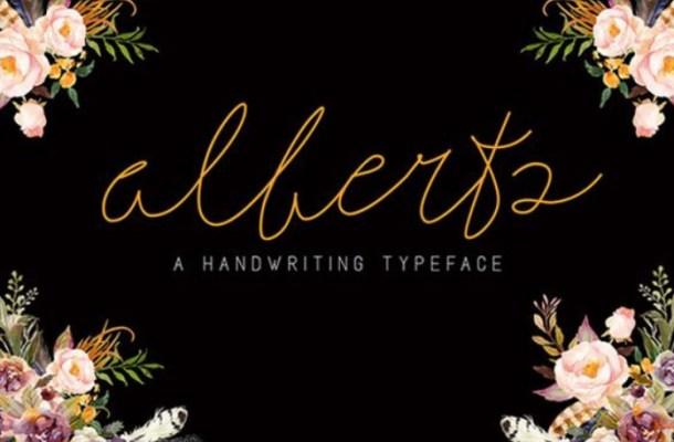 Alberts Script Font Free