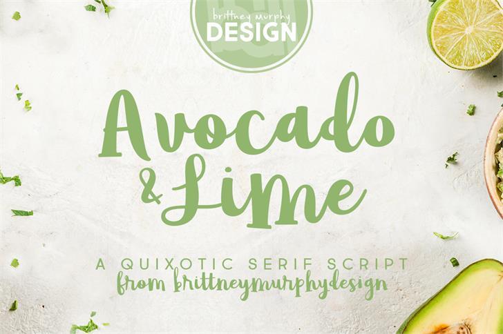 avocado-lime-script-font