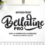 Bellatine Pro Script Font Free
