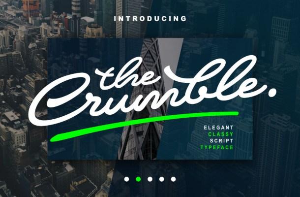 Crumble Script Font Free