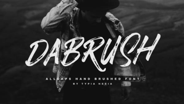 Dabrush Brush Font Free