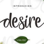 Desire Script Font Free