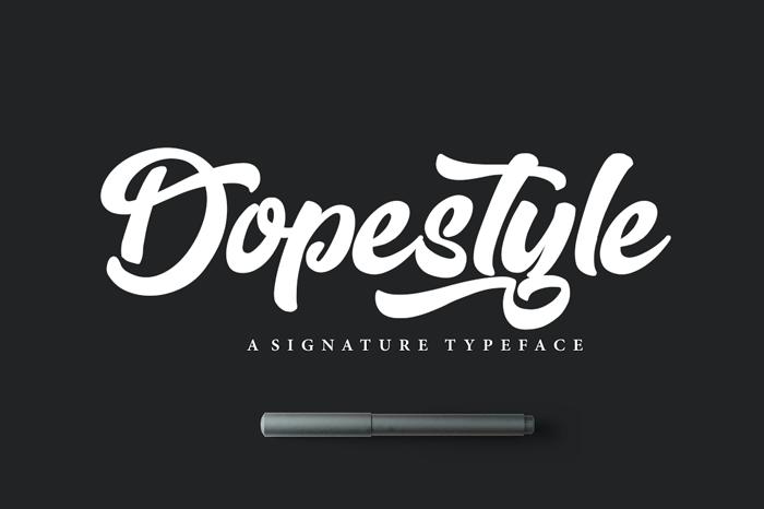 dopestyle-script-font