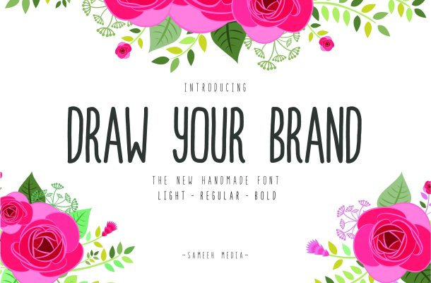 Draw Your Brand Font Free