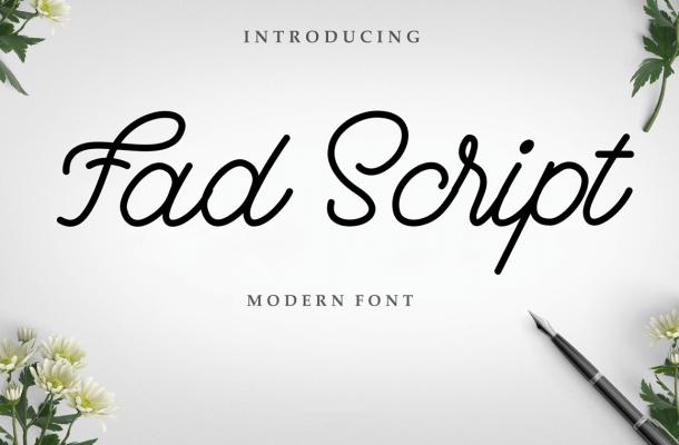 Fad Script Font Free