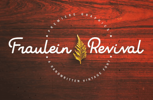 Fraulein Revival Typeface Free