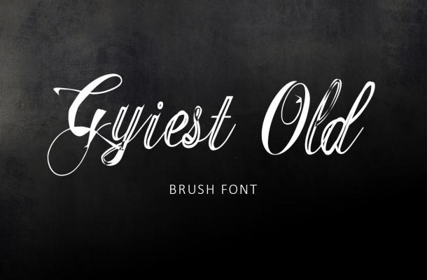 Gyiest Old Brush Font Free