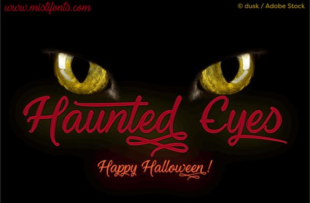 Haunted Eyes Font Free