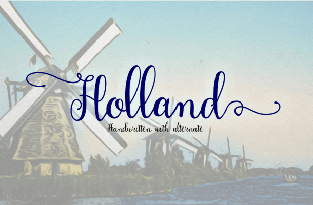 Holland Handwriting Font Free