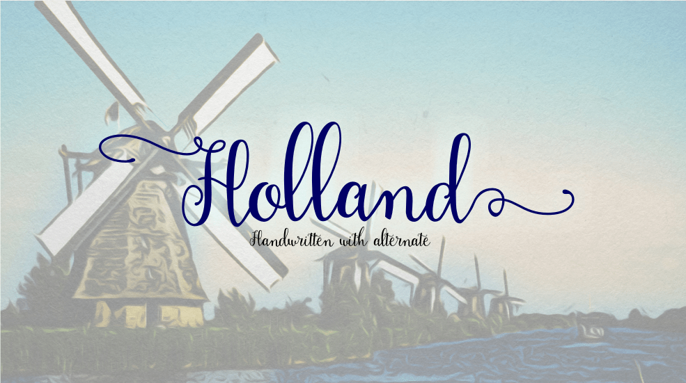 holland-handwriting-font
