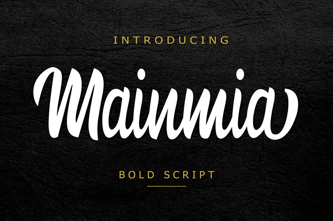 mainmia-free-script-font