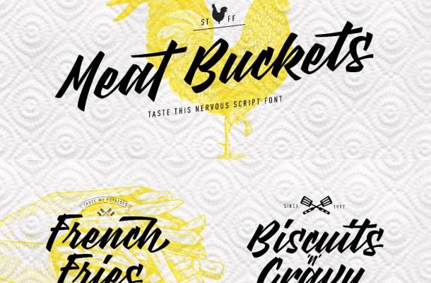 Meat Buckets Font Free