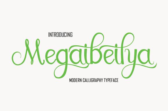 Megaibeilya Script Font Free