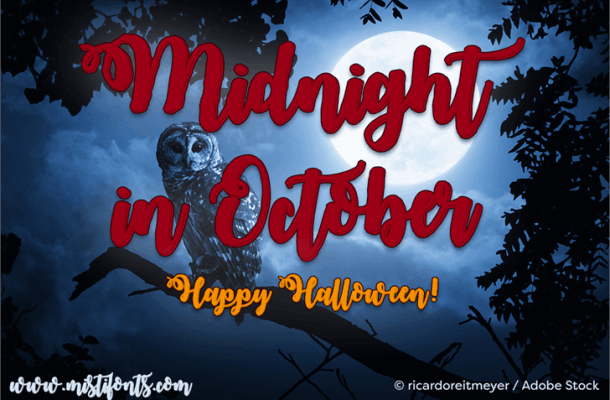 Midnight in October Font Free