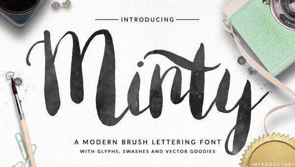 Minty Brush Font Free