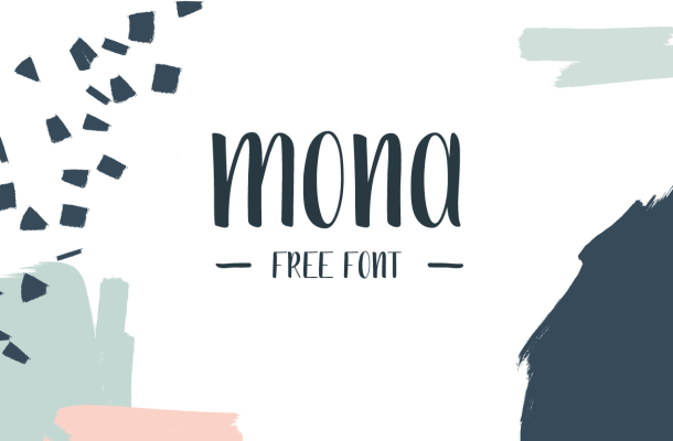 Mona Handdrawn Font Free