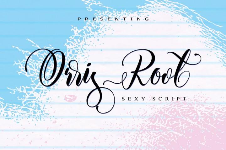 orris-root-script-font