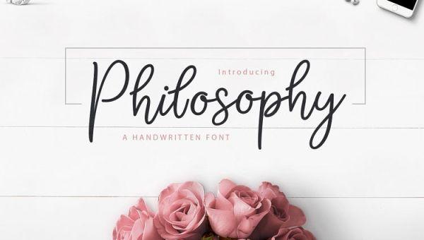 Philosophy Script Font Free