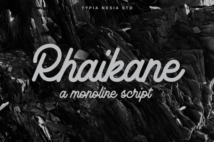 rhaikane-script-font