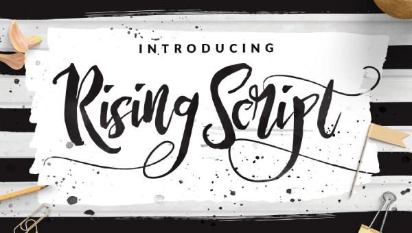 Rising Brush Font Free