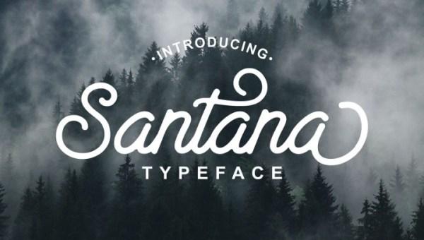 Santana Script Font Free